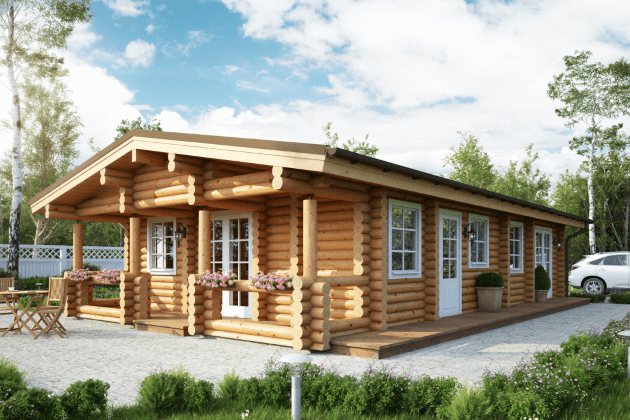 houten chalet